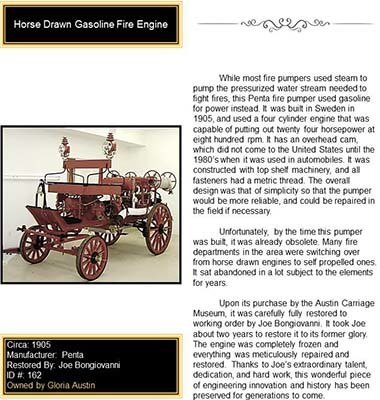 Horse Drawn Gasoline Fire Engine