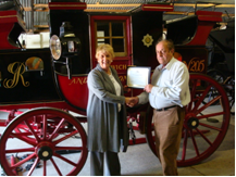 Coachman John Parker recipient of award from the Equine Heritage Institute